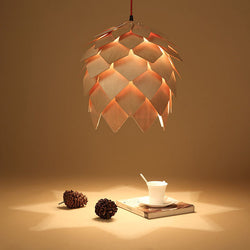 Loft Vintage Creative Wood Pendant Light DIY Ceiling Hanging Lamp For Restaurant Living Room