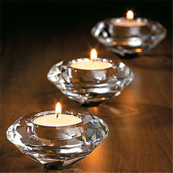 Glass Crystal Candelabra Candle Holders Stand Tealight Candlestick Wedding Home Decor Gift