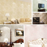 10M 3Ft Floral 3D Non-woven Wallpaper Roll Embossed Textured Flocked Home Wall Decor