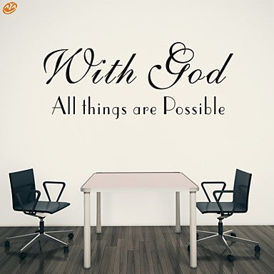 aya™ diy wall stickers wall decals, with god all things are possible
