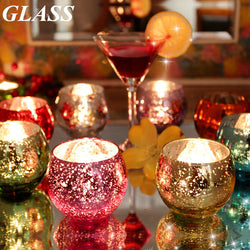 Colorful Glass Candlestick Candle Holder Candelabra Romantic Home Wedding Decor Gift