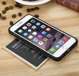 2 in 1 Hybrid Shockproof Armor Slide Credit Card Slot ID Layer Case For iPhone 5 5S SE
