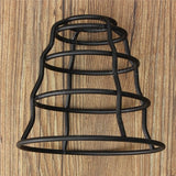 130MM DIY Vintage Pendant Trouble Light Bulb Guard Wire Cage Ceiling Hanging Lampshade acs