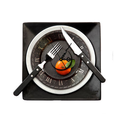 PAG STICKER 3D Wall Clock Decals Tableware Wall Sticker Restaurant Home Wall Decor Gift