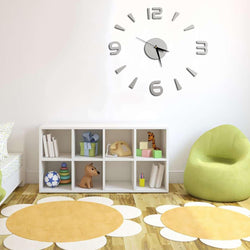 Modern DIY 3D Wall Clock Mirror Acrylic Surface Sticker For Home Office Decor
