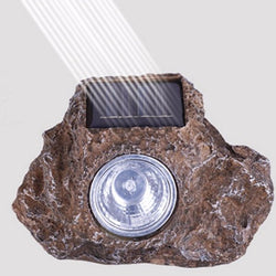 3 LED Solar Stone Rock White Light Lamp Garden Yard Landscape Walkway Spotlight