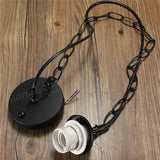 1M E27/E26 Ceiling Rose Chain Pendant Chandelier Light Lamp Bulb Holder Socket  acs