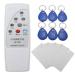 SK-658 13Pcs 125KHz RFID ID Card Reader Writer Copier Duplicator with 6 Cards/Tags Kit