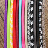 1M 2 Cord Color Vintage Twist Braided Fabric Light Cable Electric Wire acs
