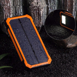 8000mAh Solar Climbing Clasp External DuaL USB Charger Power Bank For iPhone 7 Xiaomi Samsung
