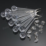 10 PCS Lot Clear Crystal Glass Chandelier Lamp Part Drops Prisms Pendants acs