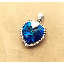 Women's Pendants Crystal Simulated Diamond Heart Blue Jewelry Daily Casual 1pc