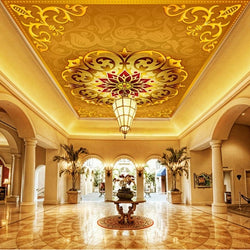 photo wallpaper European 3D dimensional ceiling wallpaper high-end luxury gold large mural wallpaper