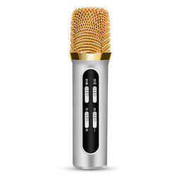 FIRST SIGHT Wired Karaoke Microphone 3.5mm Black Pink Silver Gold