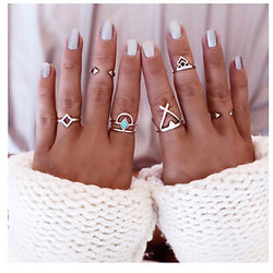 6pcs/set European Vintage Geometric Alloy Ring Statement Rings Daily / Casual 1set
