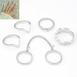 Ring Daily Jewelry Alloy Women Midi Rings8 Gold / Silver