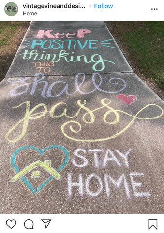 Chalk Walk - @vintagevineanddesign on Instagram