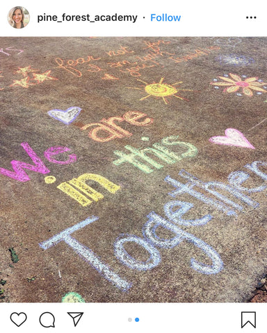 Chalk Your Walk - @pine_forest_academy on Instagram