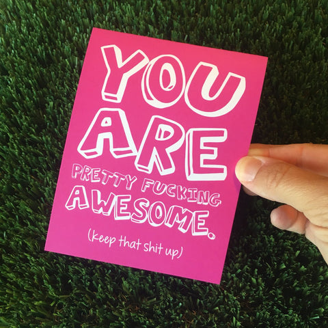 You are Fucking Awesome Assortment of 6 Different Greeting Cards