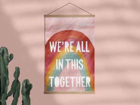 All Together Rainbow - Framed Wall Hanging