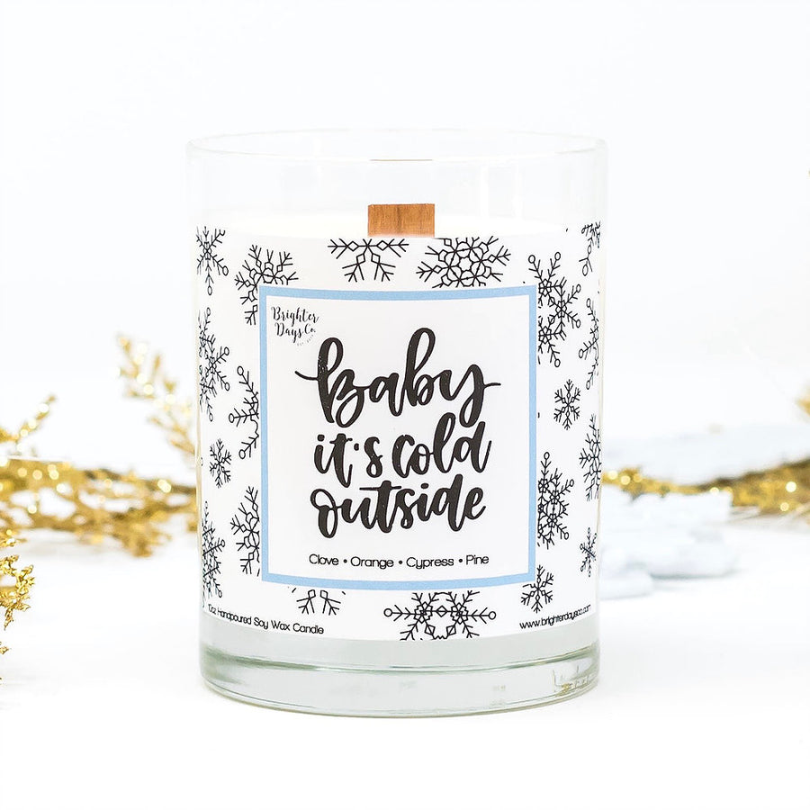 Baby it's Cold Outside Holiday Soy Candle