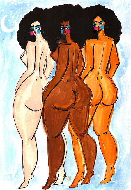 Booty Girls Art Print by Maggie Stephenson Art