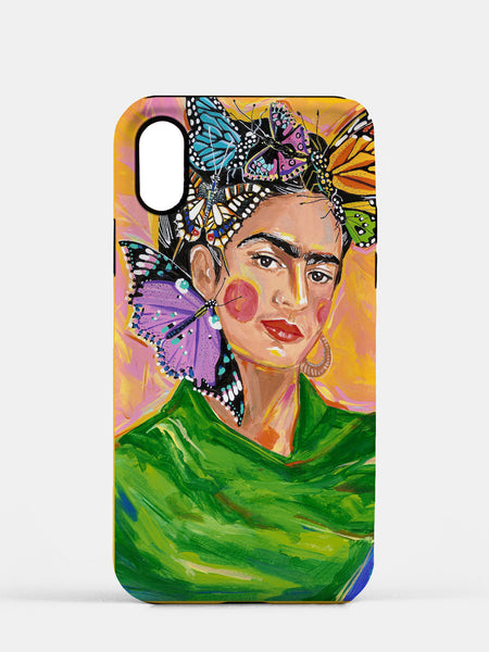 Butterfly Frida - Cell Phone TOUGH Case featuring Maggie Stephenson Art