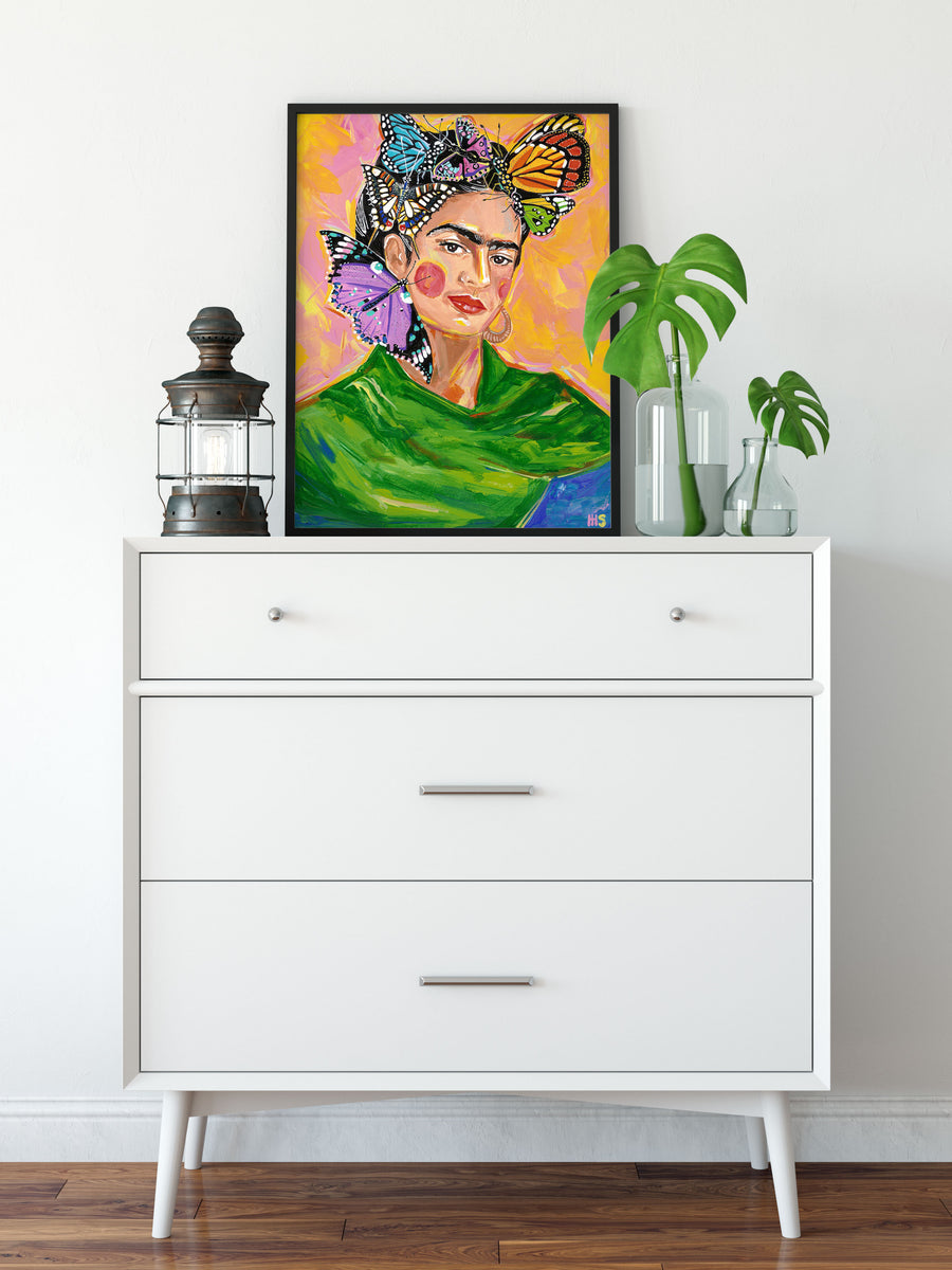 Butterfly Frida Art Print by Maggie Stephenson Art