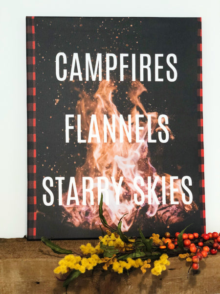 "Campfire Nights 16""x20"" Stretched Art Canvas"
