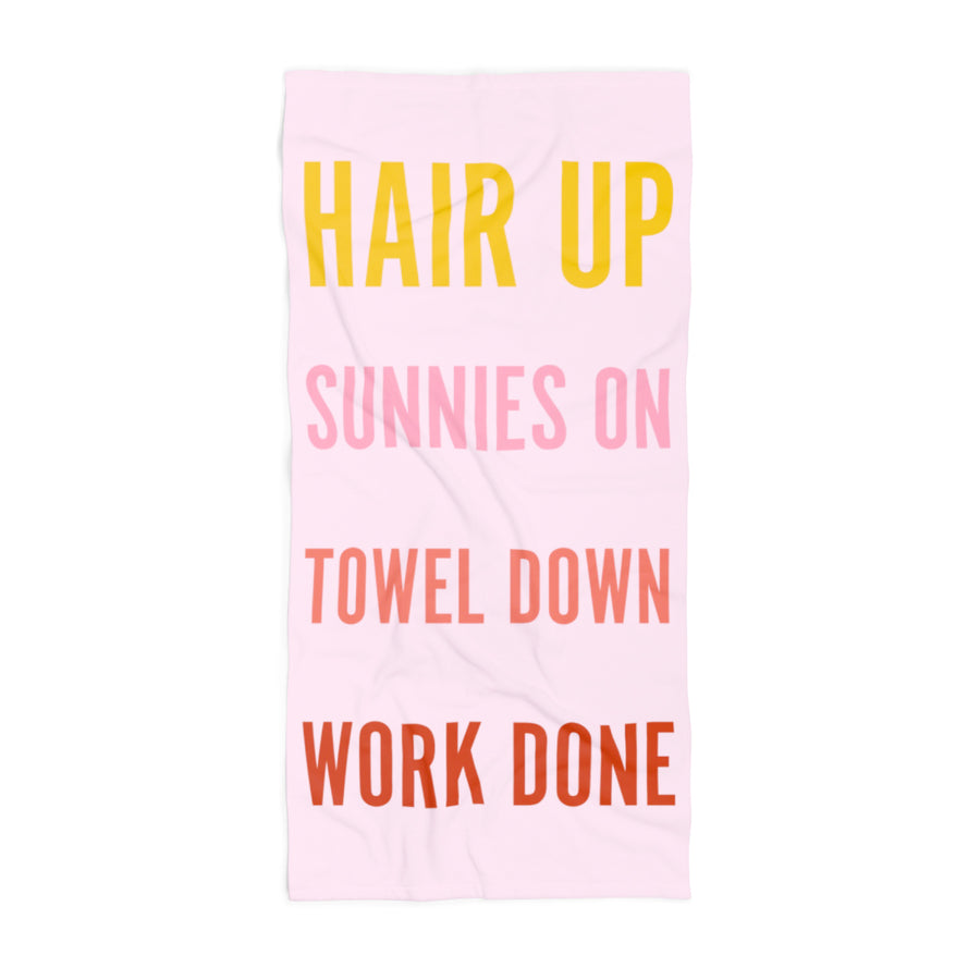 Summer Checklist XL Beach Towel
