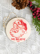 Set of 4 - Personalized Wooden Christmas Ornament Collection
