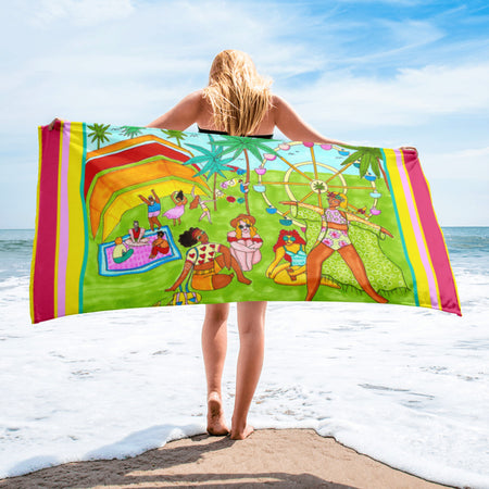 Coachella - Beach Towel featuring Maggie Stephenson Art