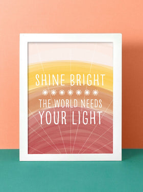 Shine Bright | Vertical Art Print