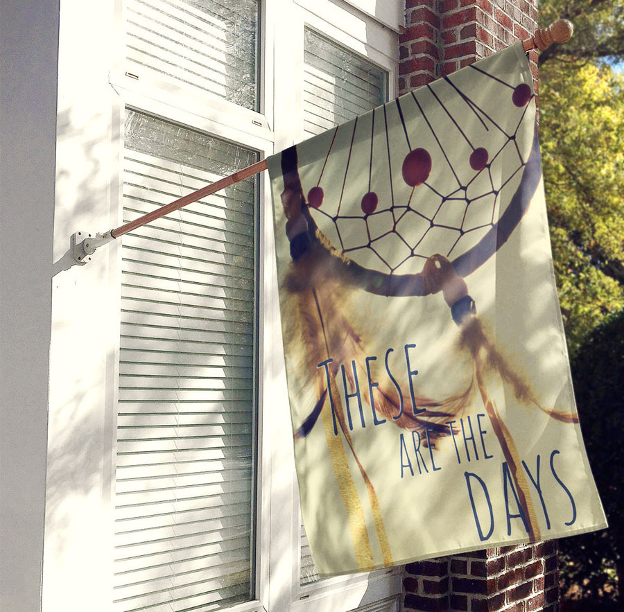 Dreamcatcher House Flag, Decorative Flag, Outdoor Flag - Boho, Gypsy, Hippie