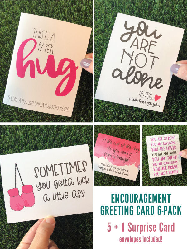 Encouragement / Get Well Soon Greeting Cards - 6 Pack