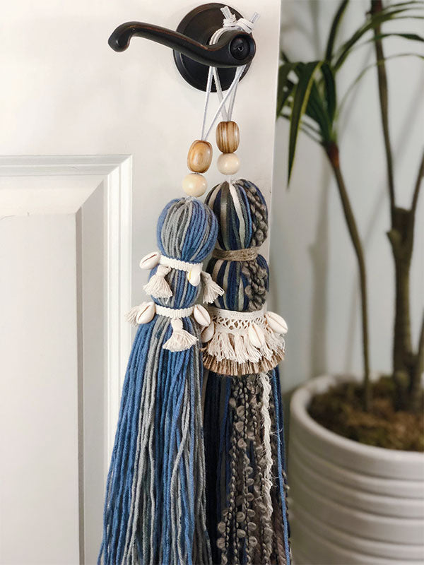 Extra Large Handmade Beach Babe Tassel with Pucca Shells and Triple Collar