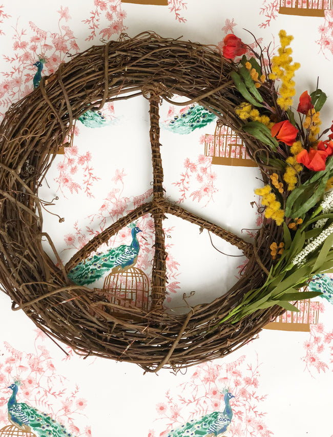 Fall Flowers<br>Peace Wreath