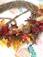 Fall Leaves<br>Peace Wreath