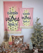 Good Vibes Pineapple Small Wall Hanging