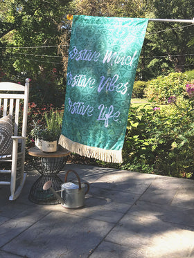 Positive Mind, Positive Vibes | Outdoor House Flag
