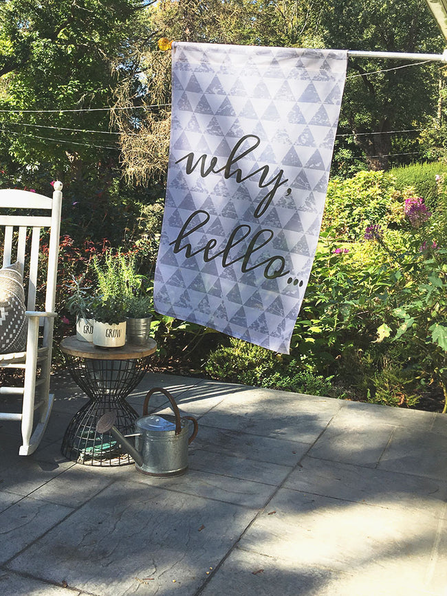 Why Hello | Outdoor House Flag