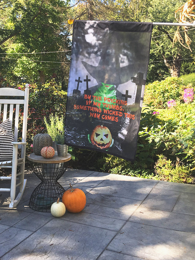 Wicked Halloween | Outdoor House Flag