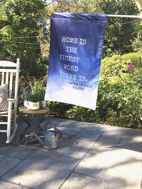Home is the Nicest Word | Outdoor House Flag