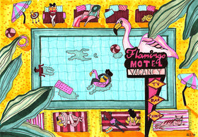 Flamingo Hotel Art Print by Maggie Stephenson Art