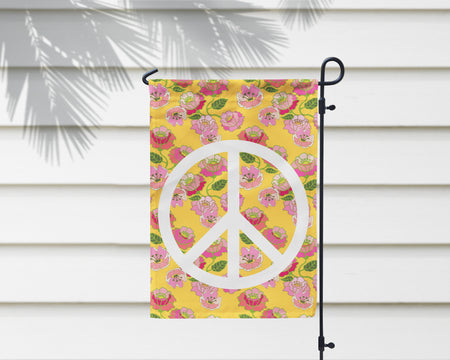 Flower Power Peace Sign Garden Flag + Wall Hanging - Multiple Options Available!