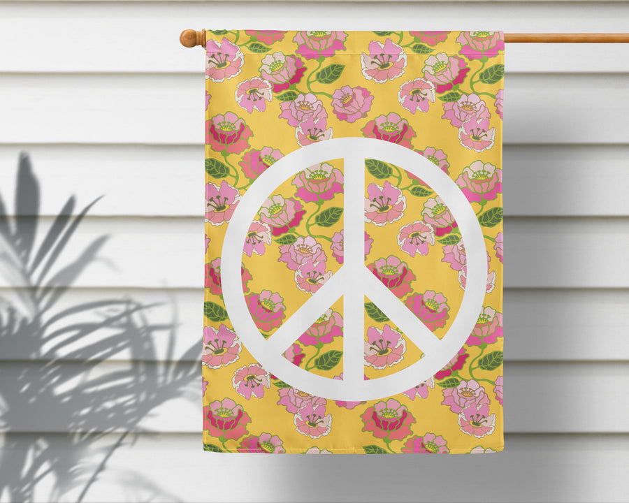 Flower Power Peace Sign Flag + Wall Hanging - Multiple Options Available!
