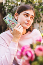 Frida in the Greenhouse - Cell Phone Case featuring Maggie Stephenson Art