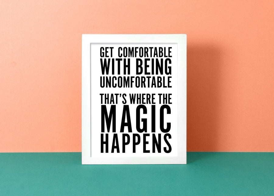 Where the Magic Happens - White | Art Print