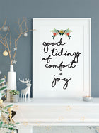Good Tidings Christmas Art Print Wall Decor