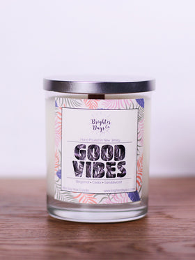 Good Vibes<br>Hand Poured Vegan Soy Candle